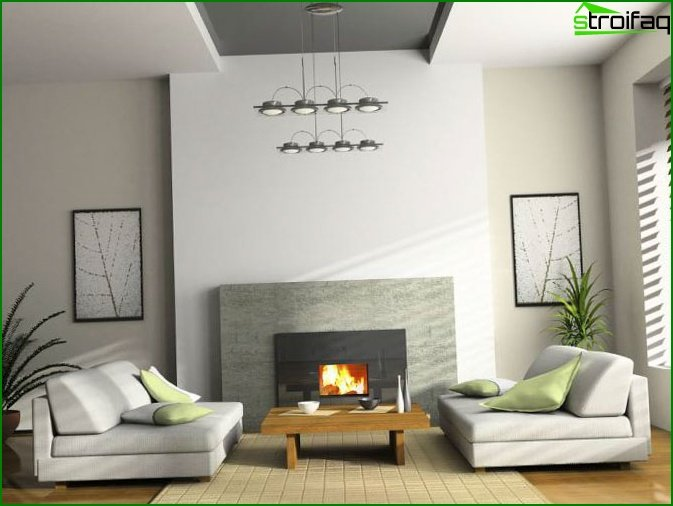 Interior design of the living room 1