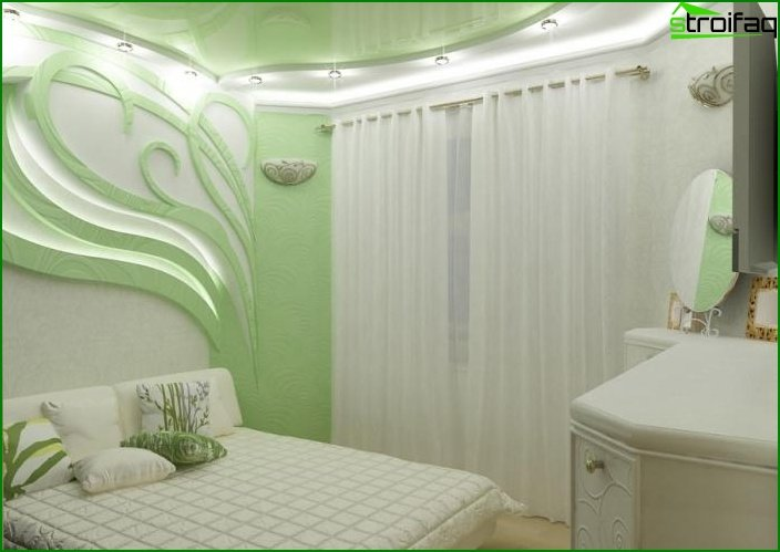 Design of a bedroom of small size 3
