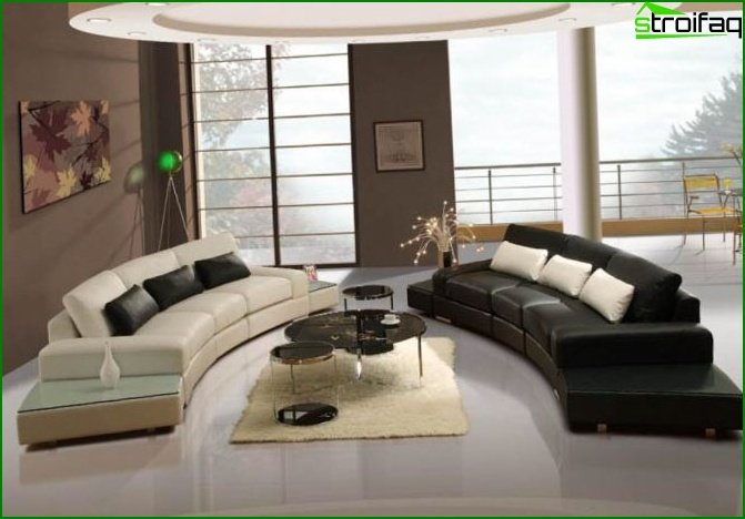 Interior design of the living room 2