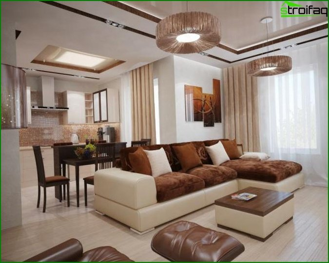 Interior design of the living room 3