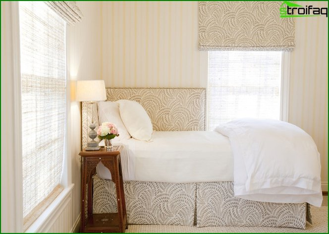 Design of a bedroom of small size 6