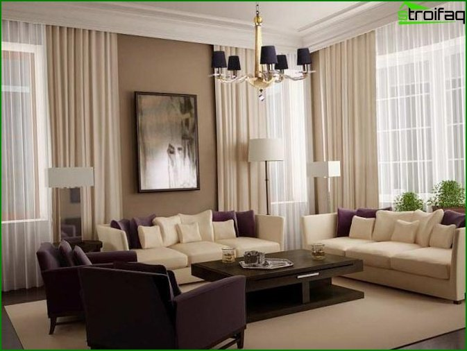 Interior design of the living room 4