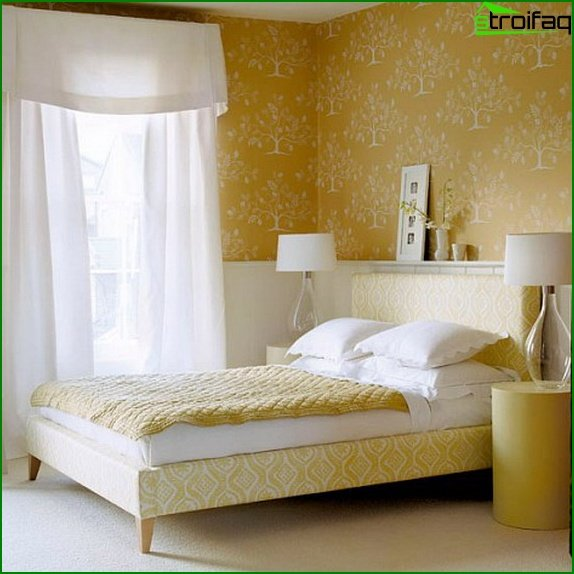Design of a bedroom of small size 7