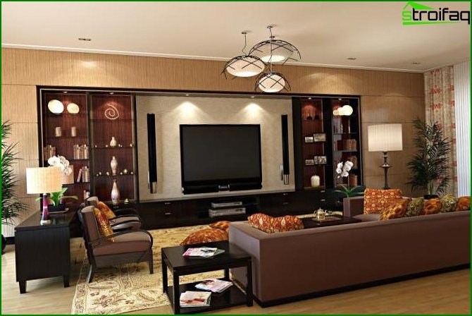 Interior design of the living room 6