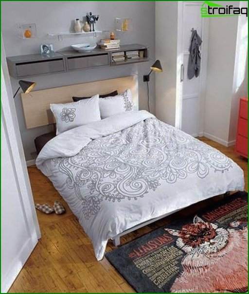 Design of a small bedroom 11