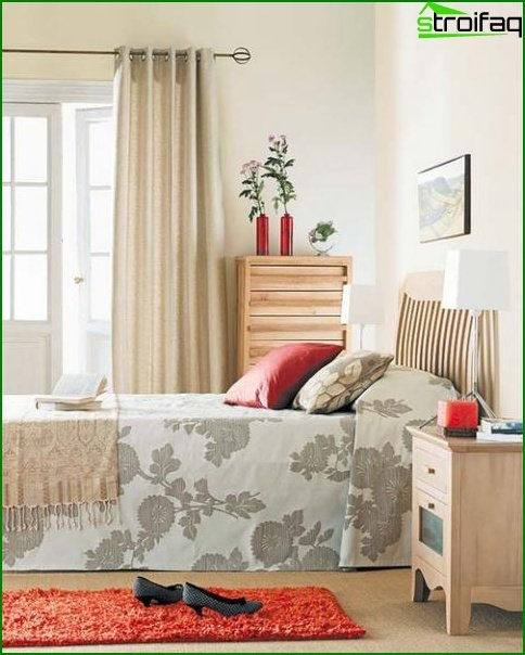 Design of a bedroom of a small size 13