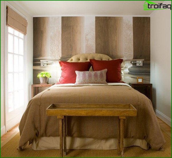Design of a bedroom of a small size 15