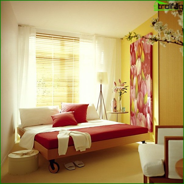 Design of a bedroom of small size 16