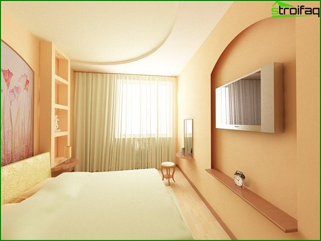 Design of a bedroom of small size 17