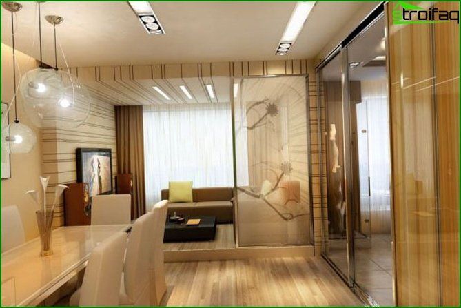 One room apartment design 1