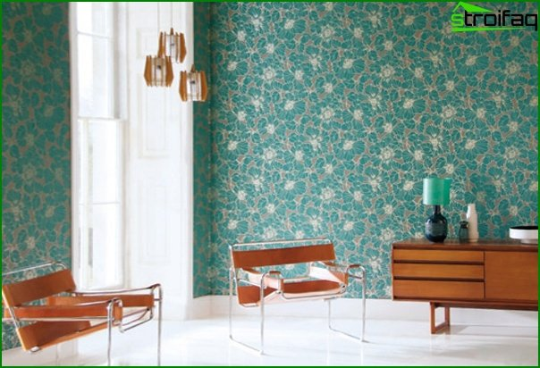 Photo of non-woven wallpaper in the interior - 1