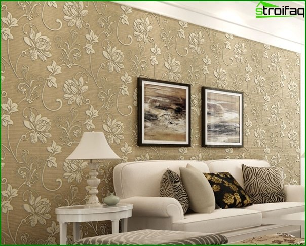 Photo of non-woven wallpaper in the interior - 3
