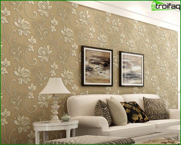 Photo of non-woven wallpaper in the interior - 3