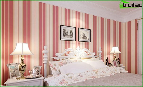 Non-woven wallpaper in the bedroom - 5