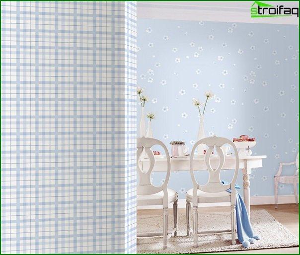 Flizelinovye wallpaper in the kitchen - 4