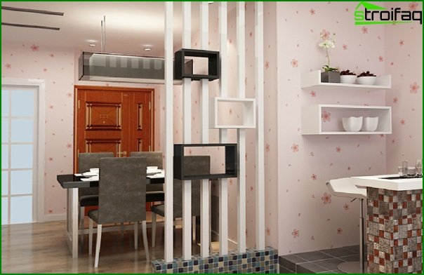 Non-woven wallpaper in the kitchen - 5