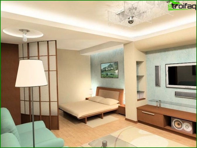 One room apartment design 10