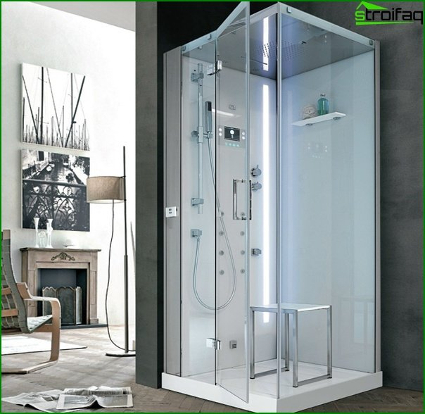 Shower cubicle with hydromassage - 3