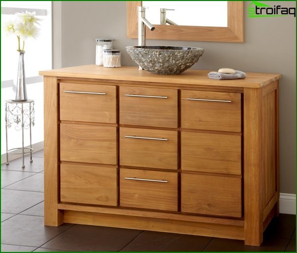 Wooden bathroom furniture - 2