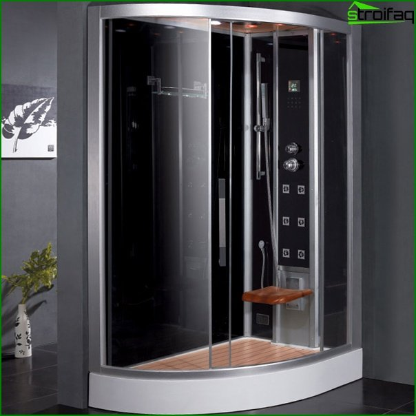 Shower cubicle with steam generator - 1