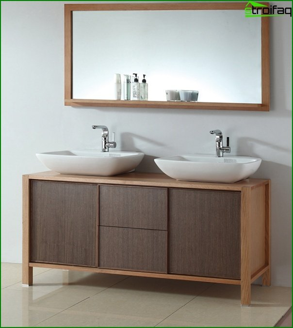 Furniture for bathrooms made of wood - 2