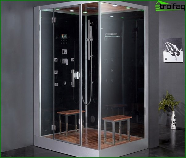 Shower cubicle with steam generator - 5