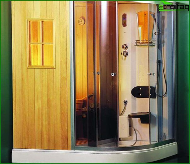 Shower cabinet with sauna - 1