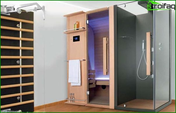 Shower cabinet with sauna - 2