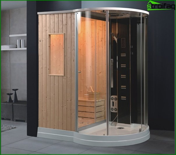 Shower cabin with sauna - 5