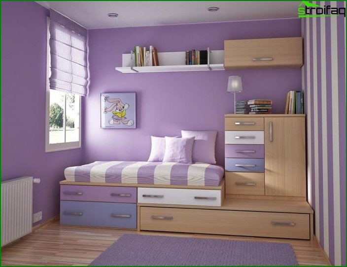 Design of a one-room apartment for a family with a child 3