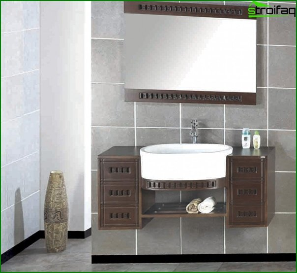 Sink with curbstone - 1