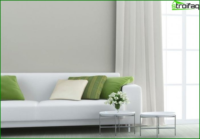Shade of Greenery in the design of the living room - photo 4