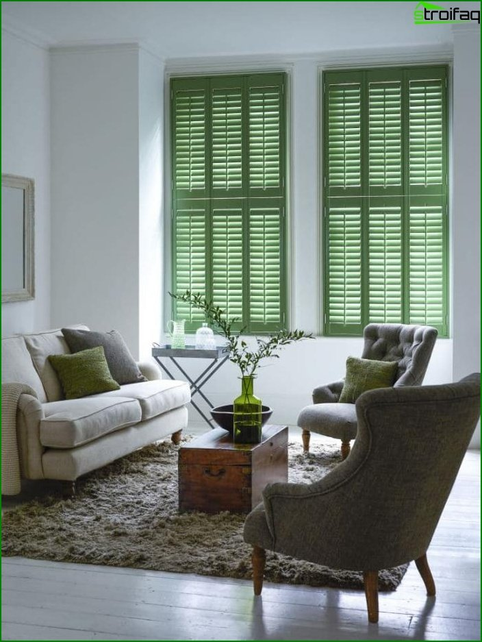 Shade of Greenery in the design of the living room - photo 6