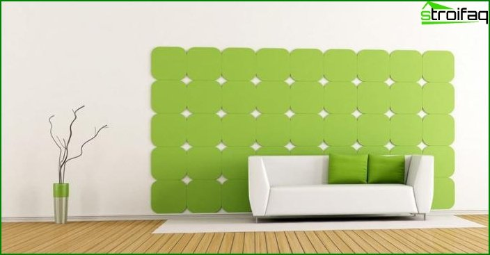 Shade of Greenery in the design of the living room - photo 7
