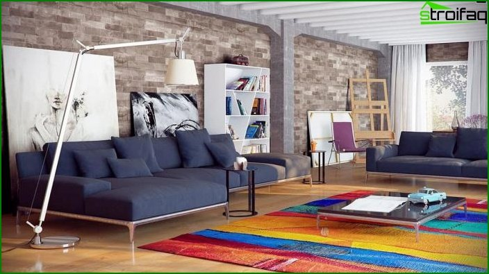 Living room in loft style 1