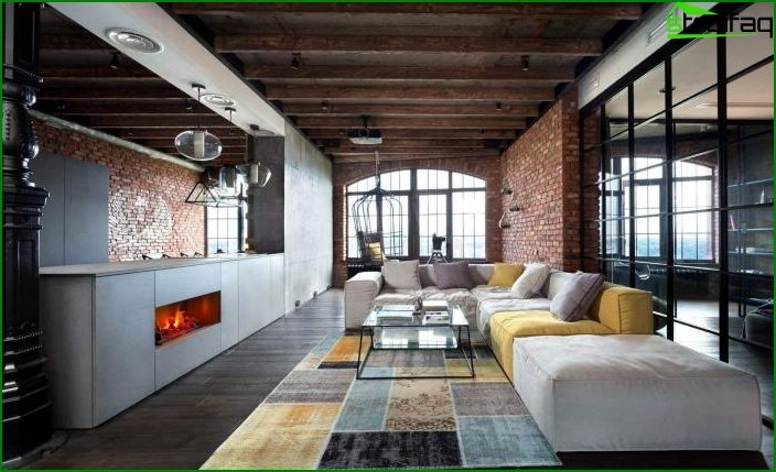 Living room in loft style 3