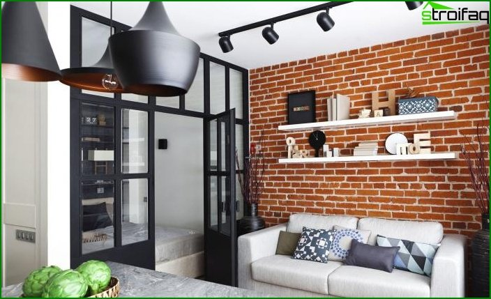 Living room in loft style 5
