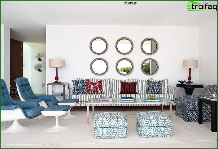 Living room in the style of the Mediterranean? Minimalism 3