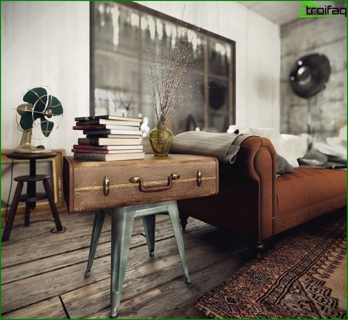 Living room in vintage retro style 3