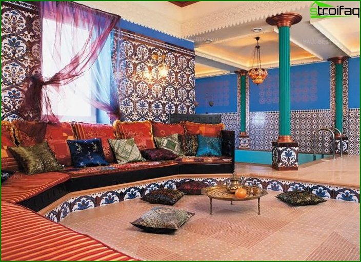 Living room in ethnic style 2