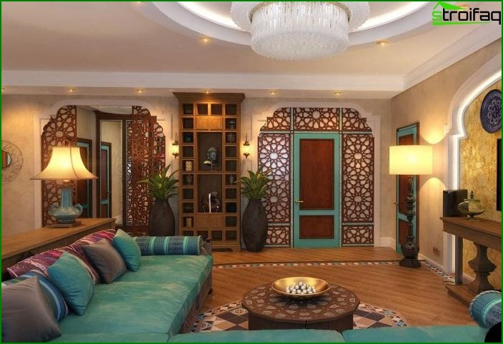 Living room in ethnic style 4