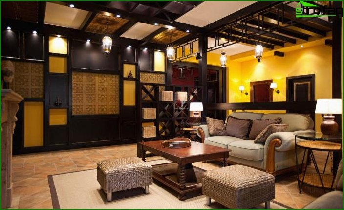 Living room in ethnic style 5