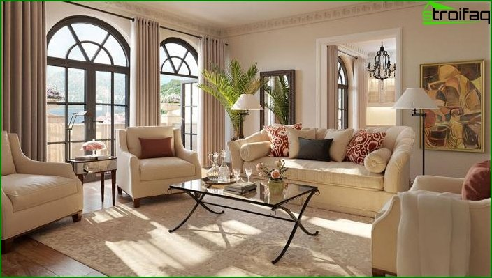 Living room in classic style 3