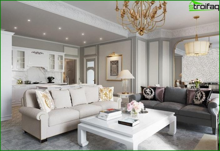 Living room in classic style 5