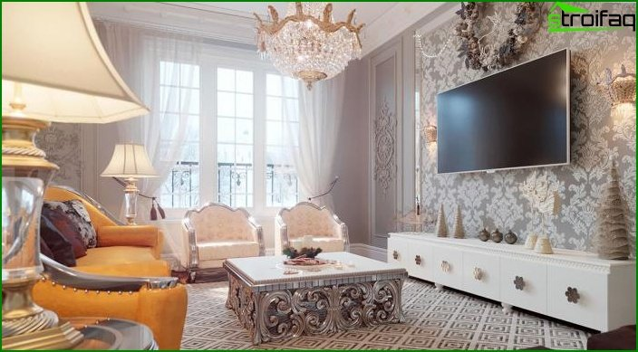Living room in classic style 7