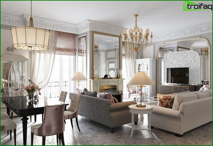 Living room in classic style 8