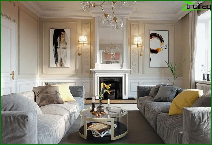 Living room in classic style 9