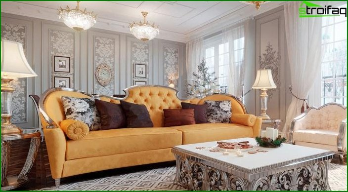 Living room in classic style 10