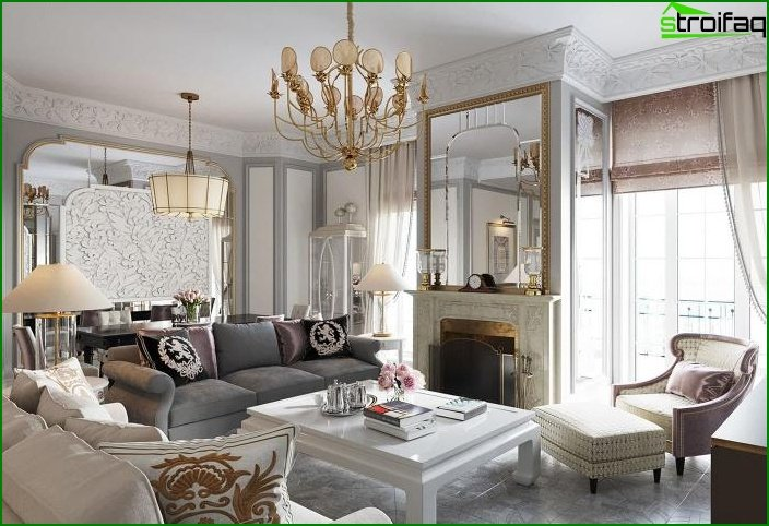 Living room in classic style 11
