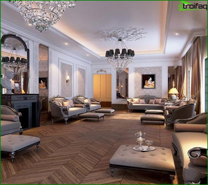 Living room in classic style 12